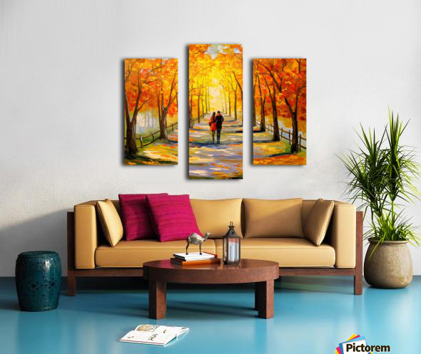 A walk in sunny weather Canvas print