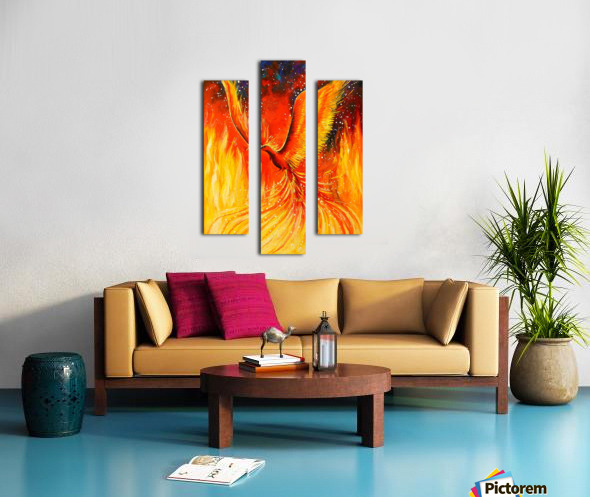 Phoenix bird Canvas print