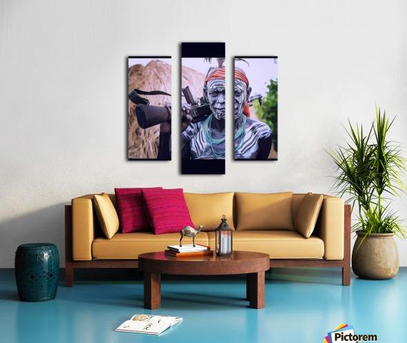 Afar Warrior Canvas print