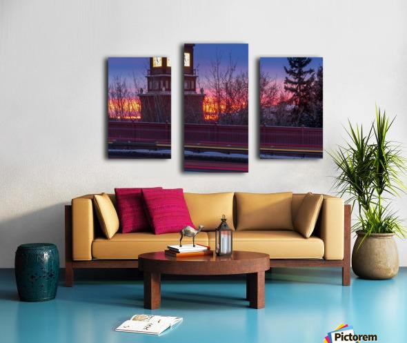 StAlbertTrail_StAlbertClock_Jan18_IMG_6032 Canvas print