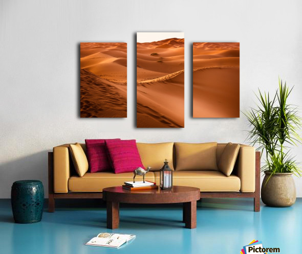desert, morocco, sand dune, dry, landscape, dunes, sahara, gobi desert, Canvas print