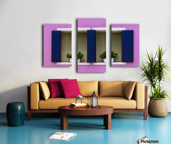 Windows in Burano Canvas print