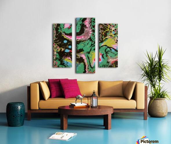 Fantasy Noir Green Canvas print