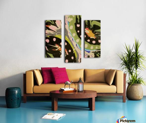 Tropical Branch Bamboo Canvas print