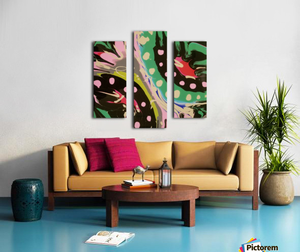 Tropical Branch Jade Canvas print