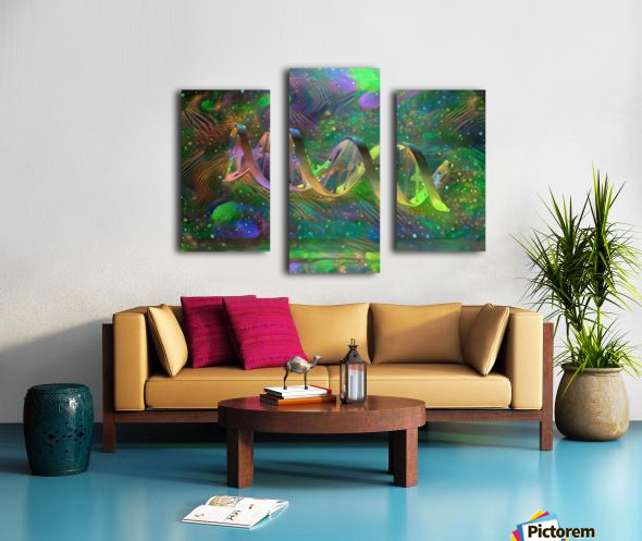 DNA Strand Artwork Canvas print