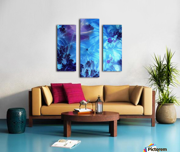 Abstract Blue Colors Canvas print