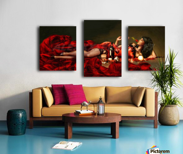 Red of the red Canvas print