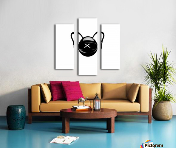 Cozmo Black Canvas print