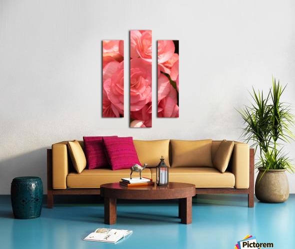 Pink pastel flower Canvas print