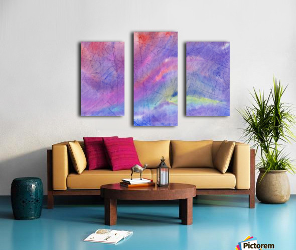 Abstract Mauve wave Canvas print
