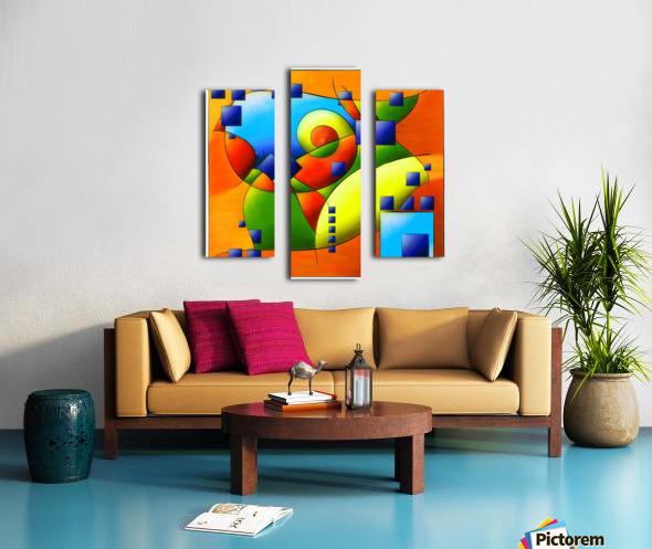 Fantisimella - colourful birdy abstract Canvas print