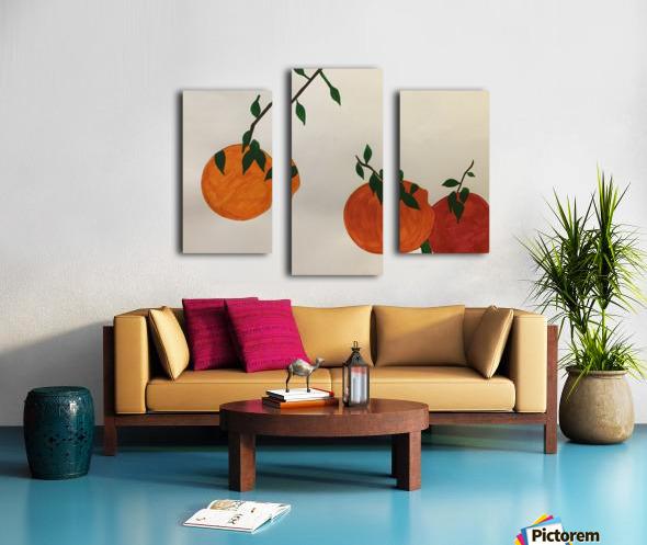 Orange You in Love Canvas print