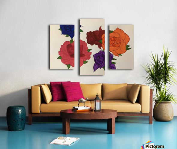 Diversity in Roses Canvas print