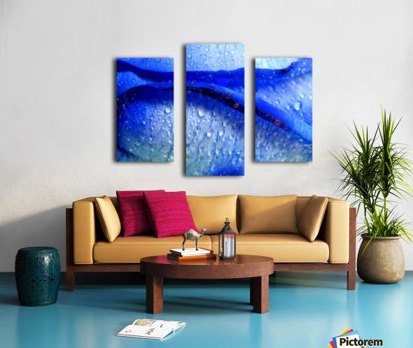 Blue Lips Canvas print
