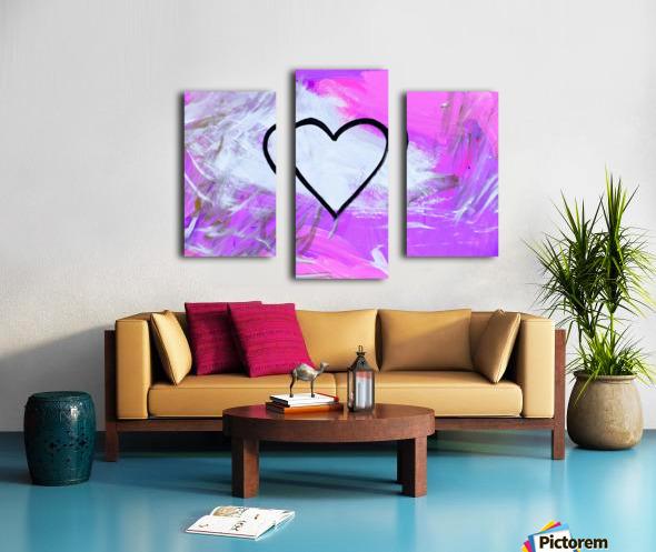 Love is a Feeling. Jessica B Canvas print