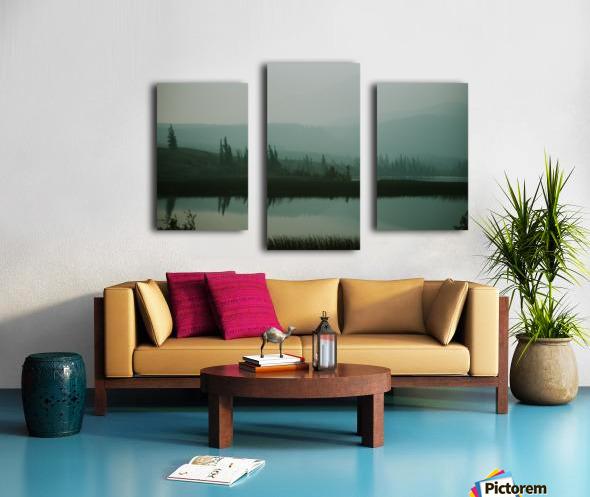 Lac brumeux Impression sur toile