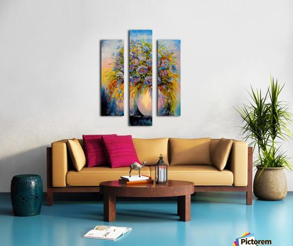 A bouquet of blue flowers Canvas print