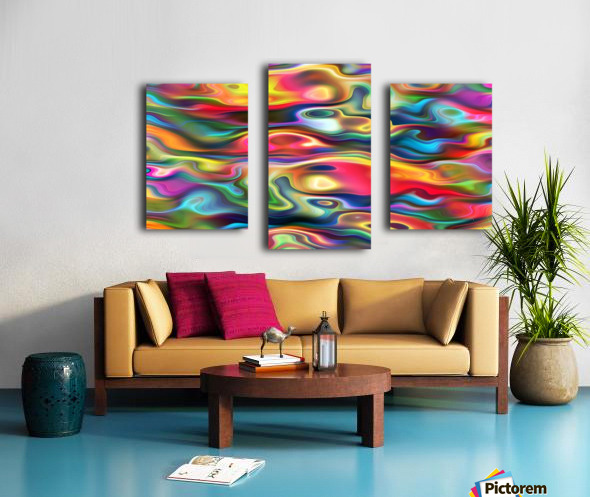 Abstract Colorful Waves Canvas print