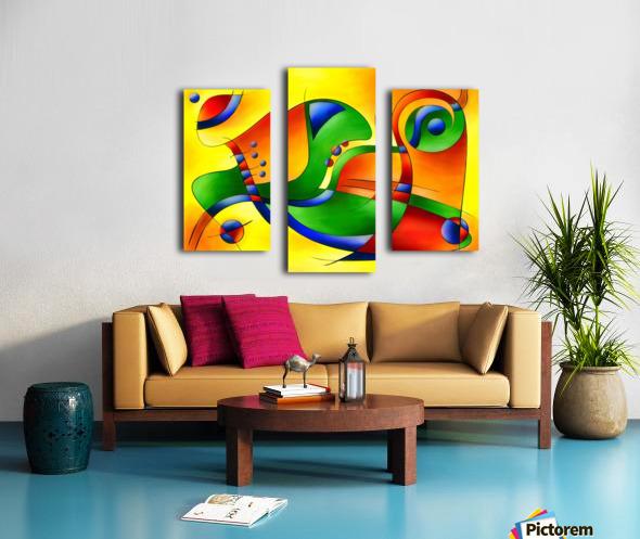 Antaressa - colourful world Canvas print