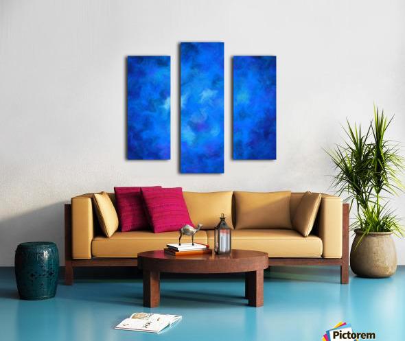 Denitamessa - deep blue world Canvas print