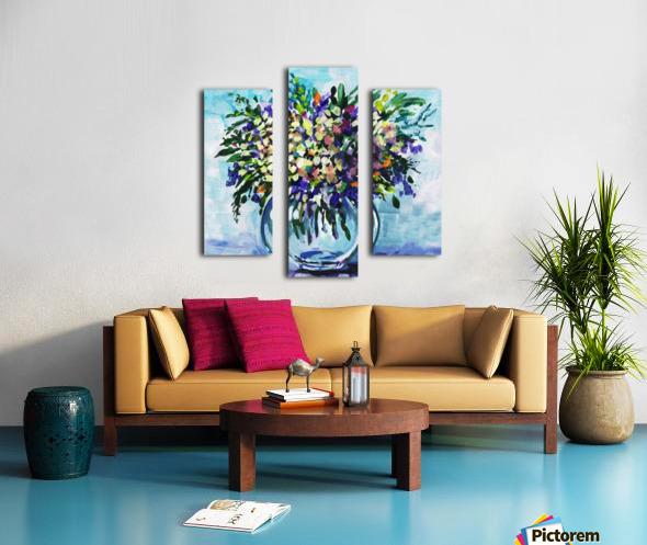 Impressionistic Flowers Burst Of Beauty Canvas print