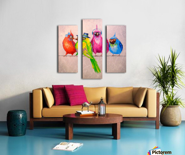 Cheerful company Canvas print