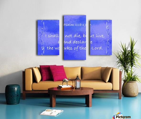 Psalm 118 17 4BL Canvas print