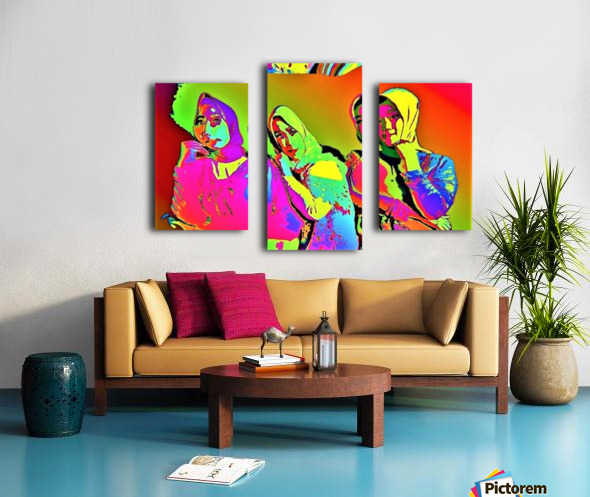 Three Friends - by Neil Gairn Adams Canvas print