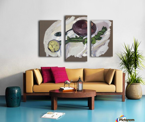 Still Life with Celery Canvas print