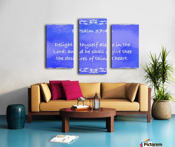Psalm 37 4 3BL Canvas print