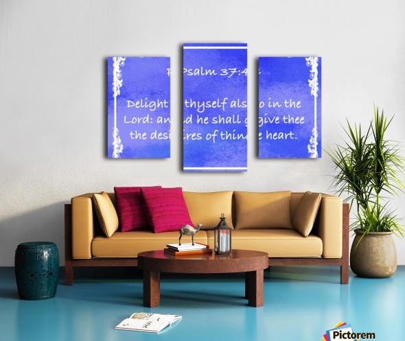 Psalm 37 4 8BL Canvas print
