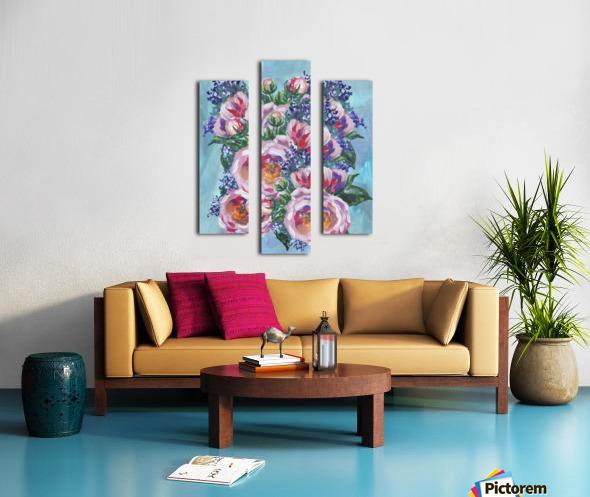 Beautiful Impressionistic Flowers Canvas print