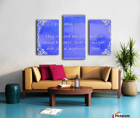 Psalm 119 11 1BL Canvas print