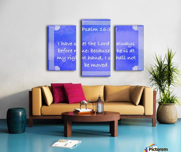 Psalm 16 8 2BL Canvas print