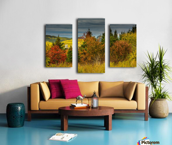 Autumn rainbow Impression sur toile