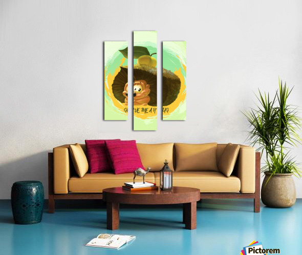 Cute Hedgehog Canvas print