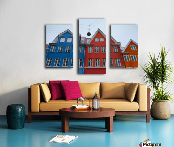 The red and blue house in Copenhagen Canvas print