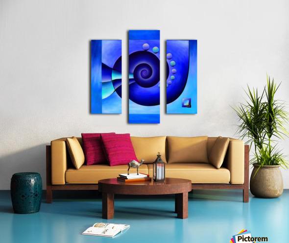 Escanissimera - endlessly limited blue spiral snail Canvas print