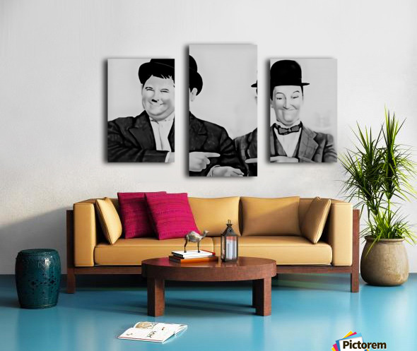 Laurel and Hardy -  by Neil Gairn Adams  Canvas print