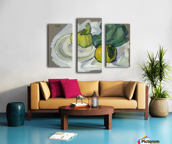 Still Life with Quince Canvas print