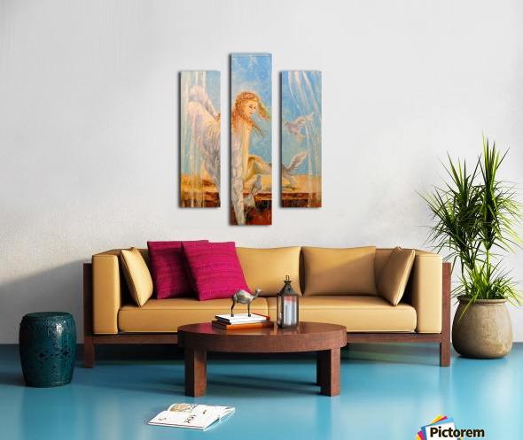 Angel on the window Canvas print