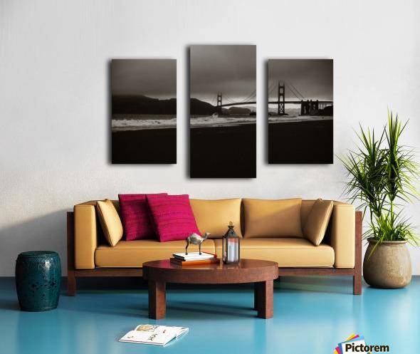 B&W Golden Gate Impression sur toile