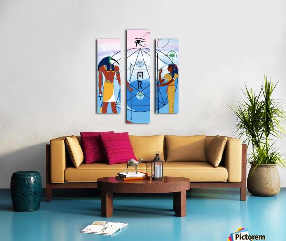 Egyptian Yin and Yang  Canvas print