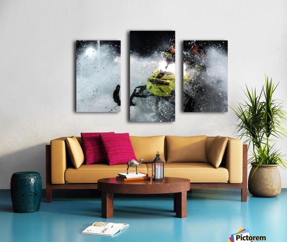 Chez nous c'est Ski-doo  Canvas print