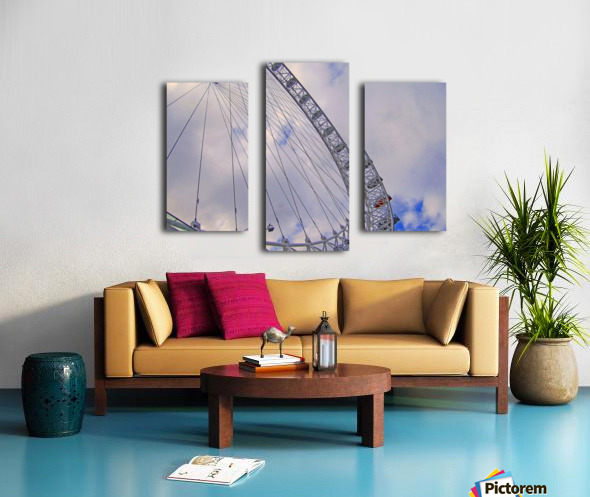 Looking up at The London Eye Canvas print