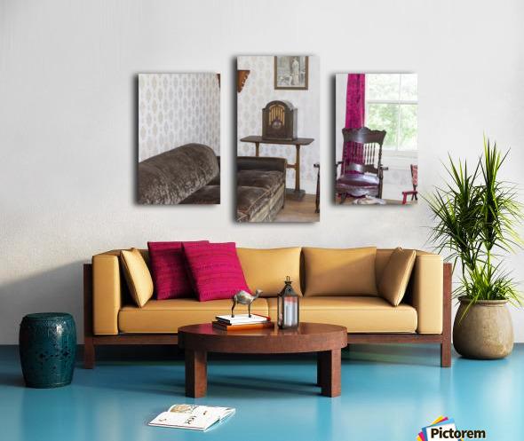 1920s living room Canvas print