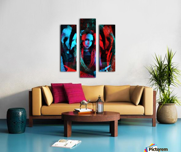 3 Faces  -  by Neil Gairn Adams  Canvas print