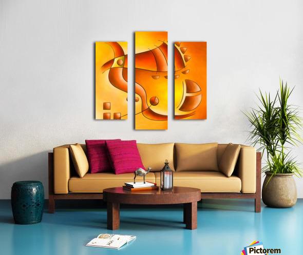Sankhiassa - dragonfly with orange sky Canvas print