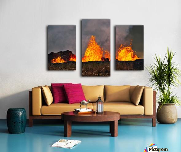 Leilani Estates Lava fountain Canvas print